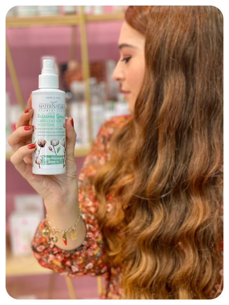 balsamo-spray-capelli-ai-fiori-di-cotone-150ml-maternatura
